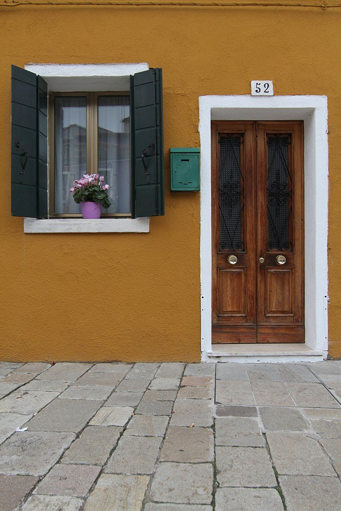 Typical door in Burano.